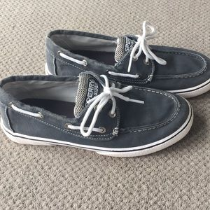 Boys blue/grey sperry boat shoes